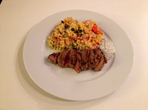 Spicy Lamb Steaks